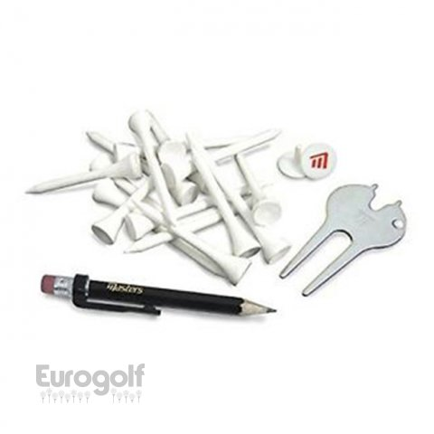 Logoté - Corporate golf produit Pack Deluxe tees - plastic pitchfork, pencil and 2 ball markers de Eurogolf