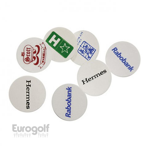Logoté - Corporate golf produit White plastic ball marker de Eurogolf