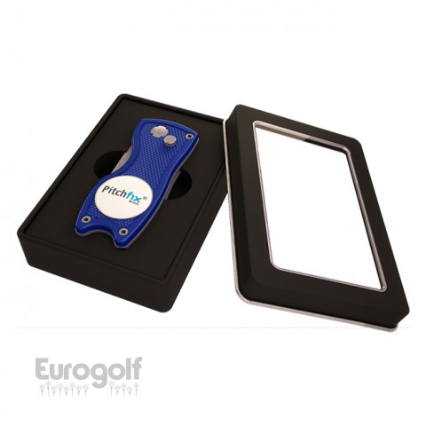 Logoté - Corporate golf produit light square tin box de Pitchfix
