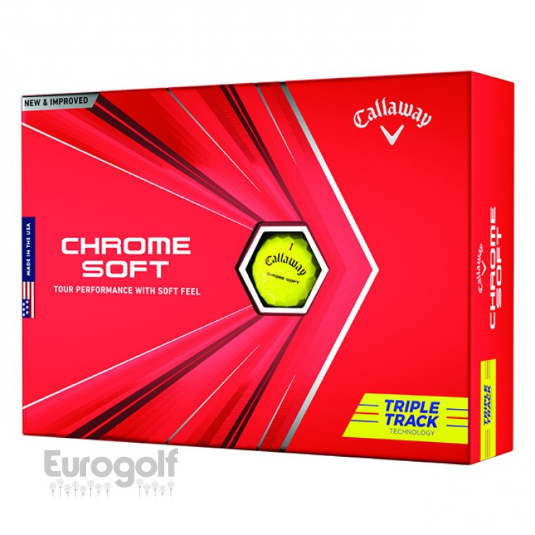 Balles golf produit Balles Chrome Soft Triple Track Yellow de Callaway Image n°2