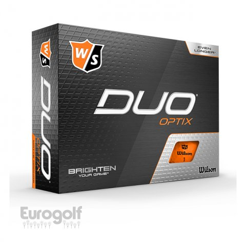 Balles golf produit Duo Optix Orange de Wilson