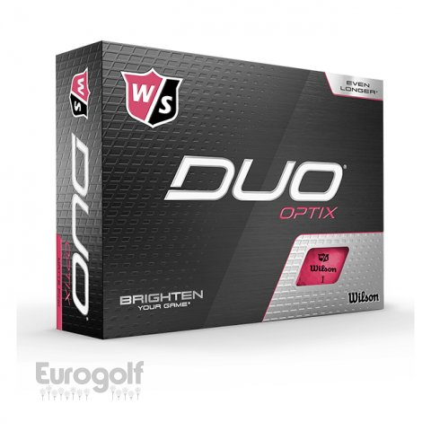 Balles golf produit Duo Optix Rose de Wilson