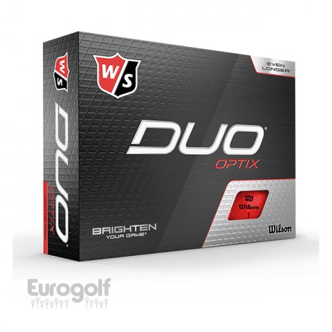 Balles golf produit Duo Optix Rouge de Wilson